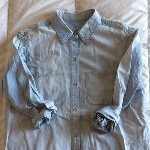 perfect chambray ex-boyfriend shirt / ferrous wash